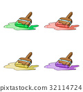 An illustration of a cartoon decorators paint 32114724