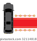 black limousine parked near red carpet 32114818