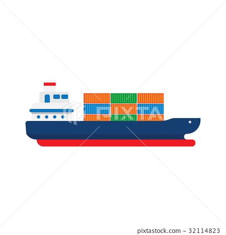 Cargo Ship with Containers 32114823