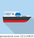 Yacht boat sign icon 32114825