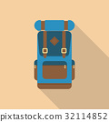 Backpack front view. 32114852