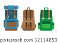 Backpack front view. 32114853
