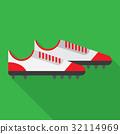 football boot flat icon 32114969
