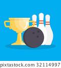 bowling vector set 32114997
