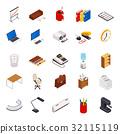 Isometric set office elements 32115119