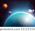 space, sphere, planet 32115319