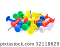 pile of colorful pushpin isloated on white  32118629