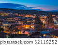 Goreme ancient city view after twilight,Cappadocia 32119252