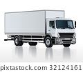 Vector truck template isolated on white 32124161