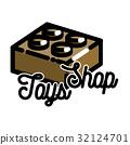 emblem, shop, vintage 32124701
