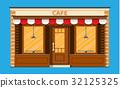 vector, cafe, shop 32125325