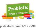 Probiotic concept, 3D rendering 32125598