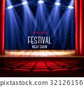 curtain, light, spotlight 32126156