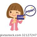 ポイントカード 女性 32127247