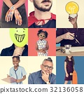Set of Diverse People Inspirational Ideas Studio Collage 32136058
