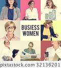 Collage of Diverse Group of Business People 32136201