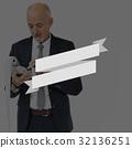 Banner Promotion Advertise Old Businessman 32136251