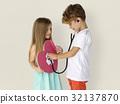 Little Children Heart Stethoscope Doctor 32137870