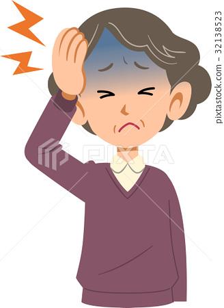 질병 여성 두통 상반신 노인 32138523