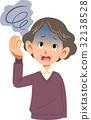 疾病女性眩晕腰部上部老人 32138528