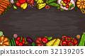 Vector cartoon illustration of various vegetables 32139205