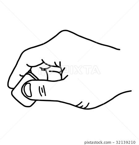 close up hand using rubber eraser stock illustration 32139210 pixta pixta