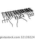 鋼琴 鍵盤 手 32139224