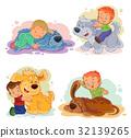 dog vector little 32139265