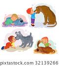 dog vector little 32139266