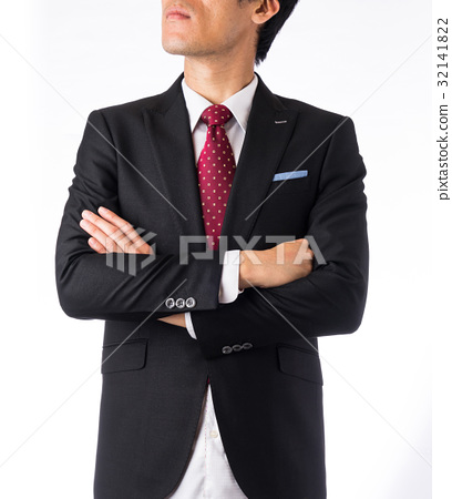 Asia Business man on white background 32141822