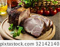 Roasted pork neck with spices 32142140