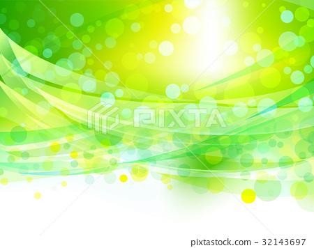 陽光通過新鮮的綠色和風圖像背景材料 32143697