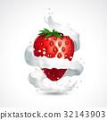 strawberry, berry, vector 32143903