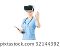 asian surgeon use digital tablet control VR 32144392