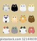 各種顏色的貓 32144639