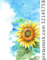summer greeting card, late-summer greeting card, postcard 32145758