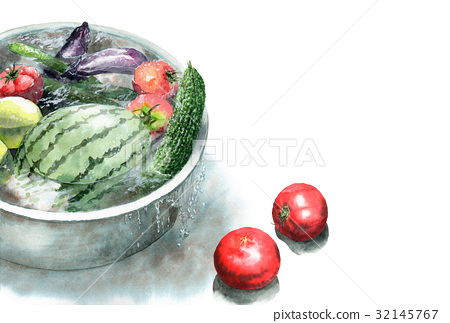 โปสการ์ดฤดูร้อนของผักเย็น ๆ ในงา 32145767