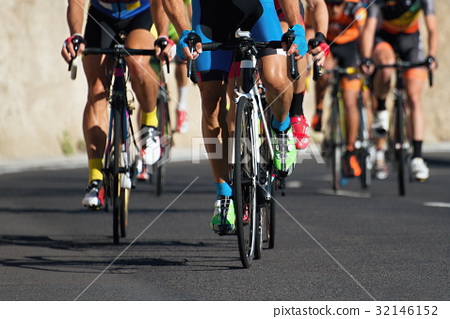 Cycling competition,cyclist athletes riding a race 32146152