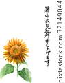 summer greeting card 32149044