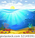 Underwater- Seabed with corals 32149391