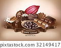 Vector illustration, banner with chocolate sweets 32149417
