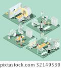 Set of 3D flat isometric illustrations of medical 32149539