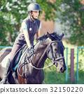 dressage, girl, horse 32150220
