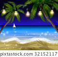 Palm trees at night 32152117
