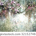 Abstract colorful flowers watercolor painting 32152746