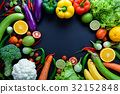 Healthy food concept of fresh organic vegetables 32152848