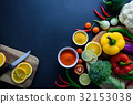 Healthy food concept of fresh organic vegetables 32153038
