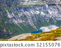 Beautiful norwegian landscape with mountains  32155076