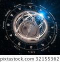 aquarius, armillary, astrological 32155362