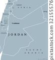 Jordan political map 32155576